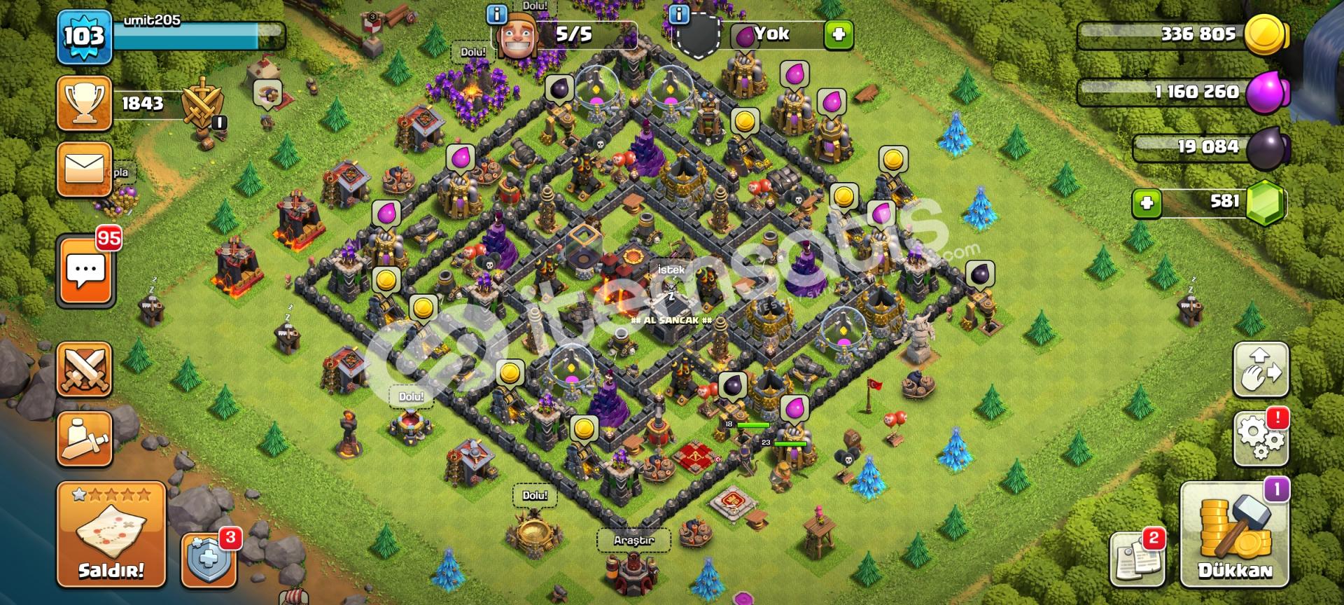 Clash of clans 103 lvl hesap