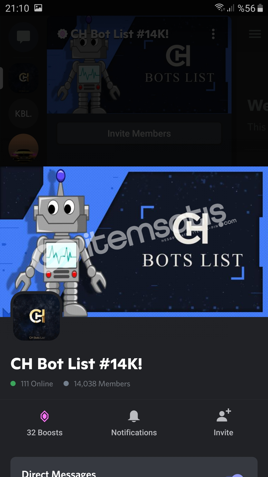 14K Bot List Sunucusu (Logo ve Afiş Hediyeli)