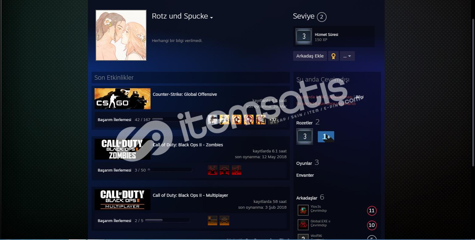 Call of Duty: Black Ops II steam hesap !