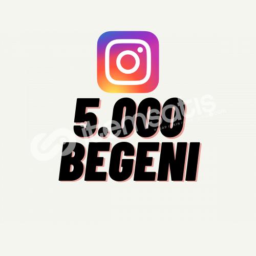 İntstagram 5.000 Beğeni + Hızlı Teslimat