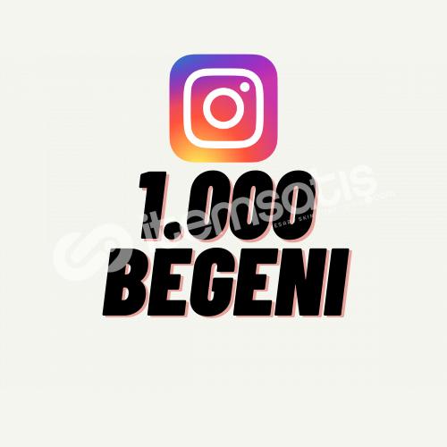 İnstagram 1.000 Beğeni + Hızlı Teslimat