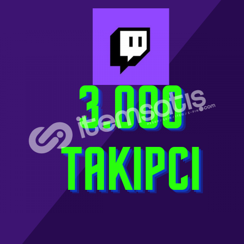 Twitch 3.000 Takipçi + Hızlı Teslimat