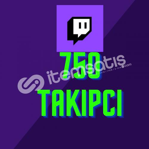 Twitch 750 Takipçi + Hızlı Teslimat