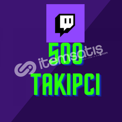Twitch 500 Takipçi + Hızlı Teslimat