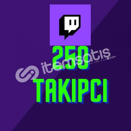 Twitch 250 Takipçi + Hızlı Teslimat