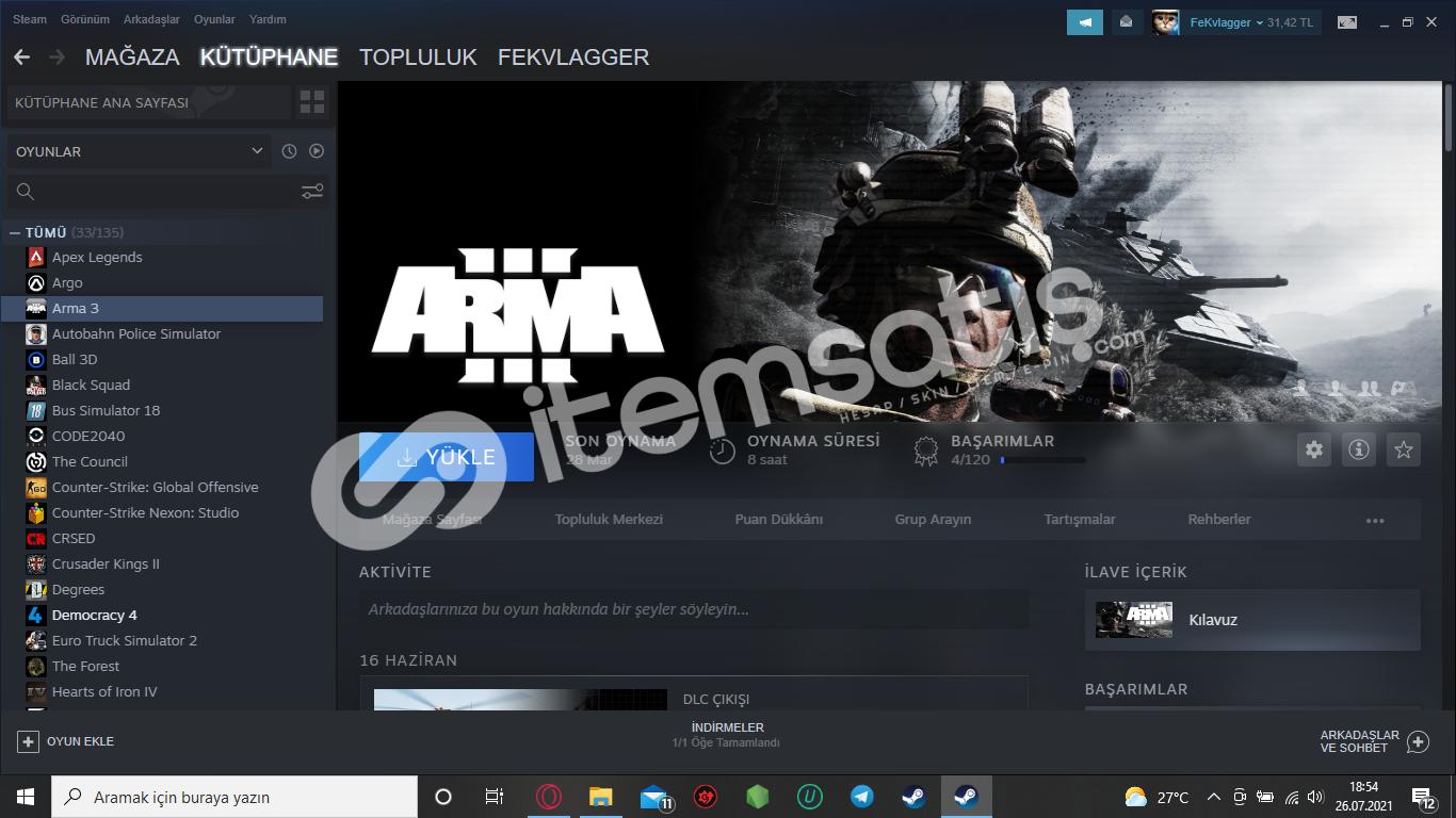 Steam 5 YILLIK hesap Satışı