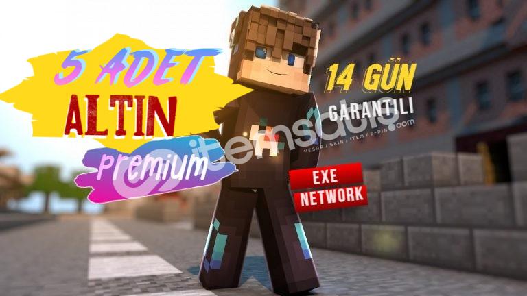 Minecraft 5 Adet Altın Premium