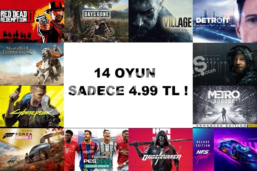 14 Oyun SADECE 4.99 TL !