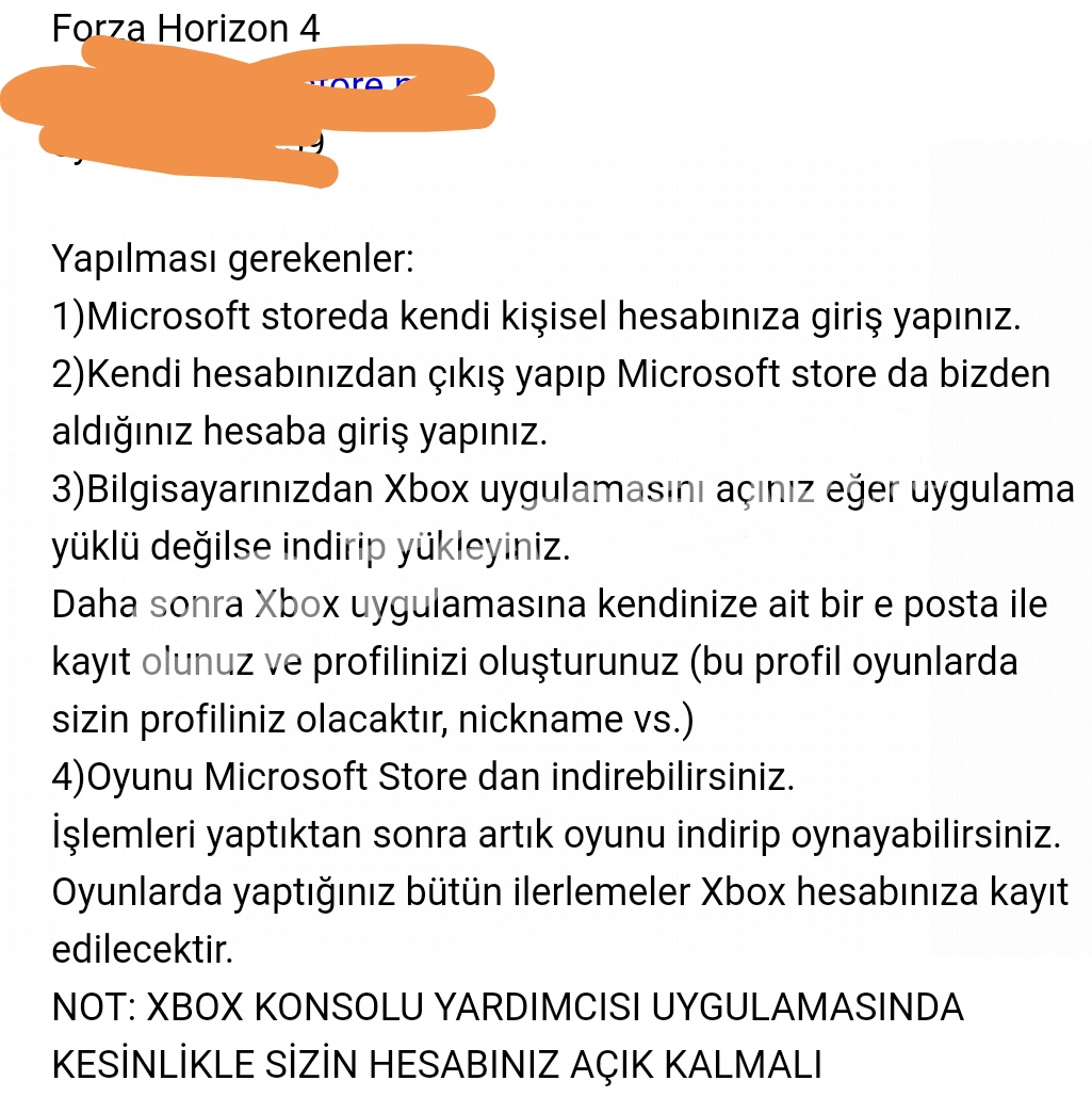Forza Horizon 4lü Microsoft Store Hesabı