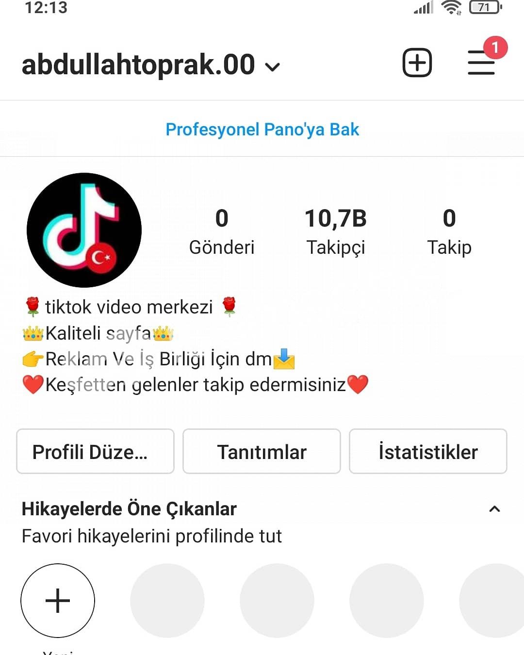 Instagram 10k hesap en