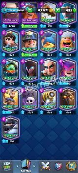 bütün kartlar var max kartlar var 4600 kupa mükkemmel hesap