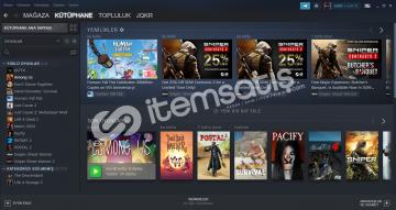 Steam Hesabı Satılıktır İçinde 16 paralı oyun vardır.