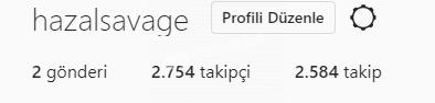 2.7k aktif, hepsi organik takipçili kız hesabı. Çok aktiff!!