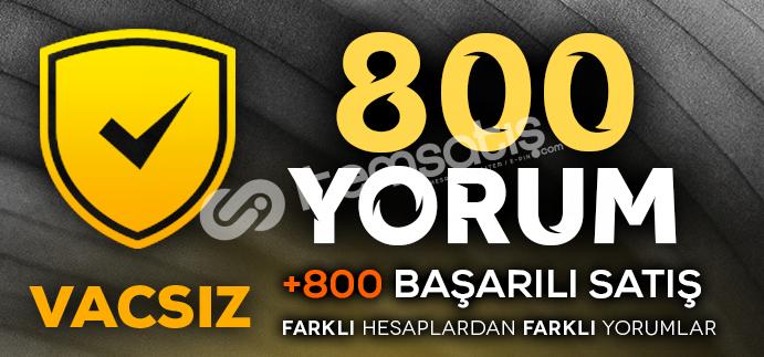 YEMYEŞİL-800 VACSIZ YORUM- CS GO GÜVEN FAKTÖRÜ YÜKSELTİCİ