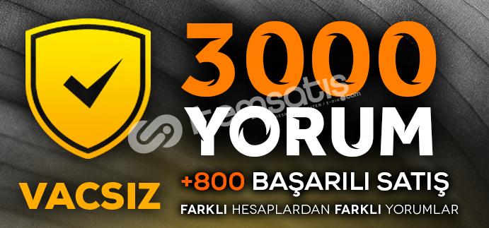 YEMYEŞİL - 3000 VACSIZ YORUM- CS GO GÜVEN FAKTÖRÜ YÜKSELTİCİ