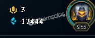 League of Legends Gümüş 2 / 265 level hesap