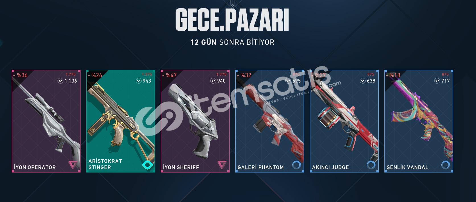 GECE PAZARI ÇOK UCUZA İYON OP+İYON SHERİFF