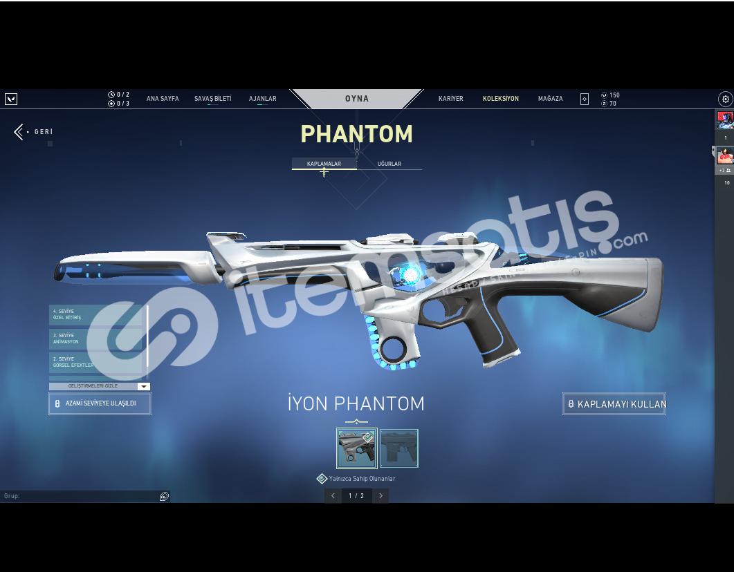 iyon phantomlu hesap (acil satılık)