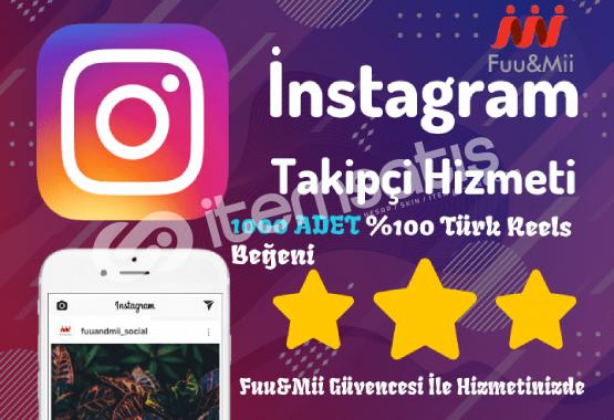 Instagram Reels Organik Türk Beğeni - 1000 Adet