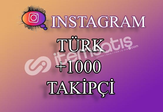 1000 Instagram Türk Takipçi | Hemen Teslim