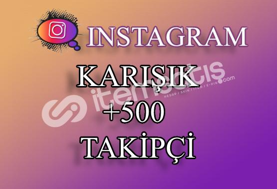 500 Instagram Takipçi Karışık | Hemen Teslim