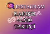 2500 Instagram Takipçi Karışık   Hemen Teslim