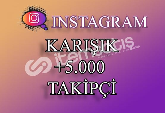 5000 Instagram Takipçi Karışık | Hemen Teslim