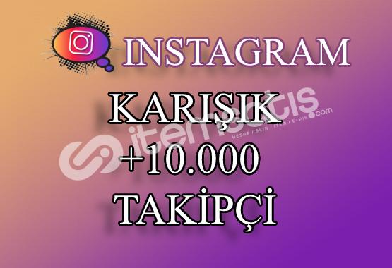 10000 Instagram Takipçi Karışık | Hemen Teslim