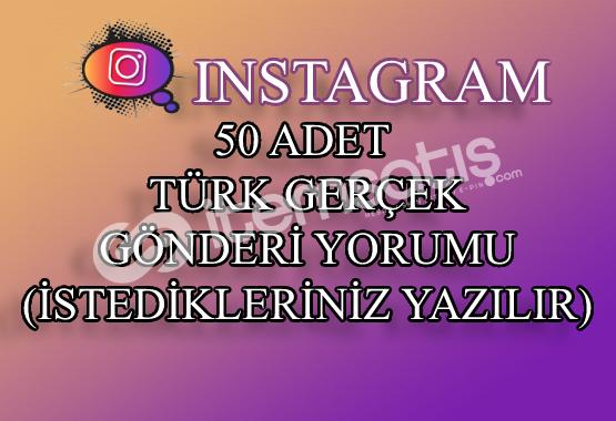 Instagram 50 Türk Gerçek Gönderi Yorumu