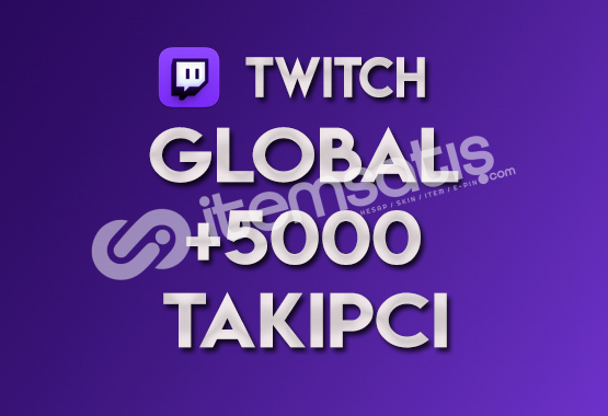 ♻️ 5.000 Global Twitch Takipçi (TELAFİLİ)