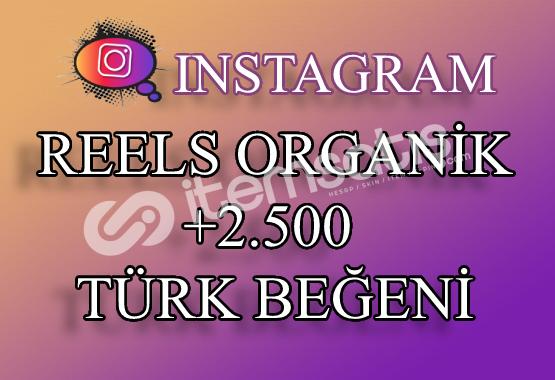 2500 Instagram Reels Türk Beğeni | Keşfet Etkili