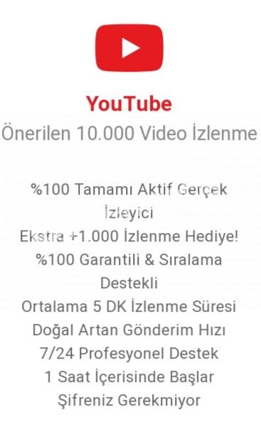 10.000 vidyo izlenme