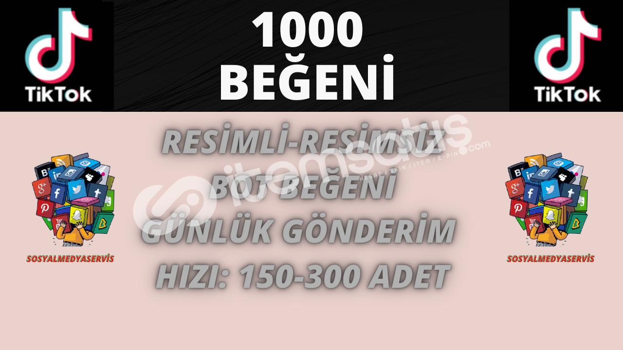 TİKTOK 1.000 BEĞENİ | 10 TL