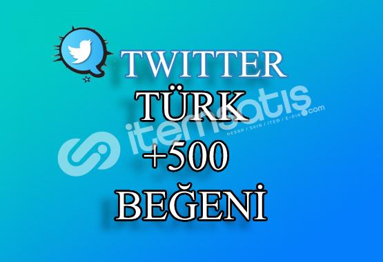 500 Türk Twitter Beğeni   Hemen Teslim