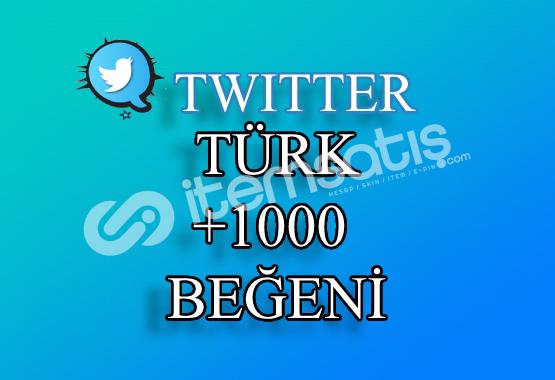 1000 Türk Twitter Beğeni   Hemen Teslim