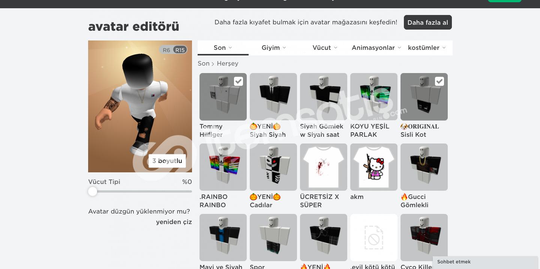 3200 Totalli Roblox Hesap Kıyafet+Gamepass Mevcuttur