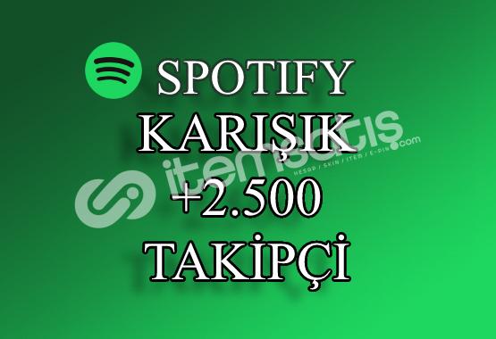 2500 Karışık Spotify Takipçi | Hızlı Teslimat