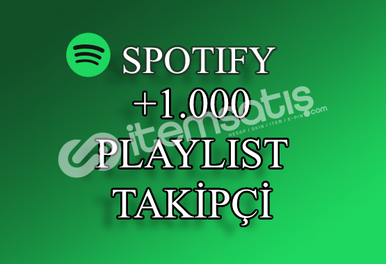 1000 Spotify Playlist Takipçi | Hızlı Teslimat