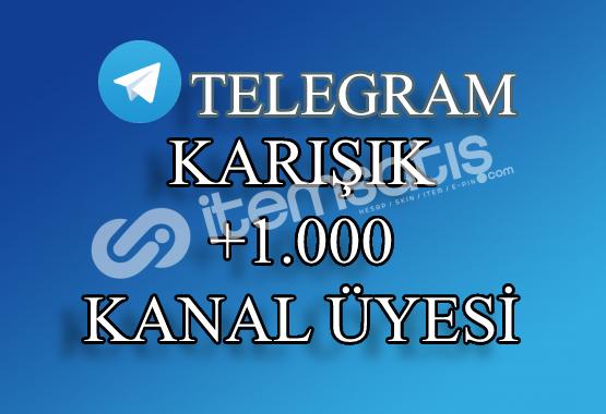 1000 Telegram Kanal Üyesi