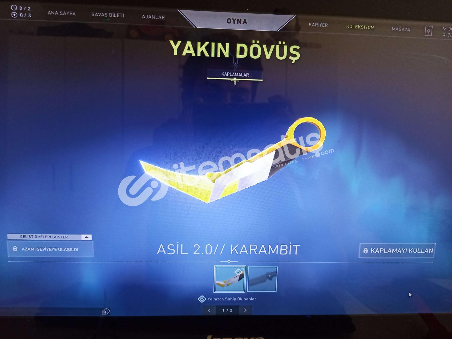 Kurucu Mailli Asil Karambit+Yeni Battle Pass