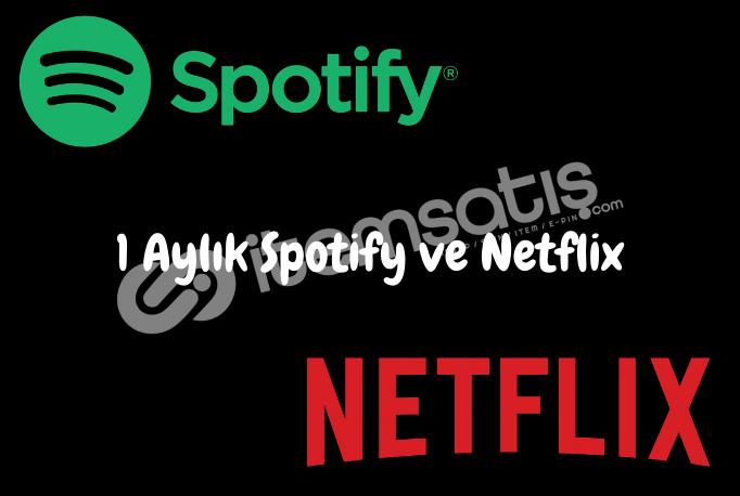 1 Aylık Spotify Bireysel ve Netflix Premium Hesap