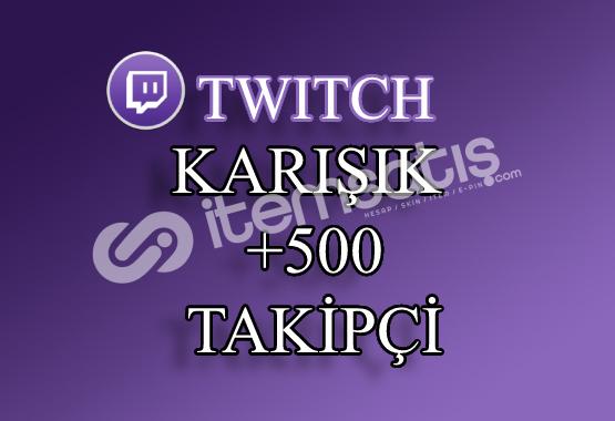 500 Twitch Takipçi | Seri Teslimat