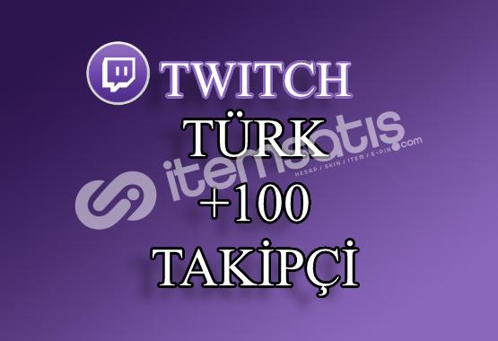 100 Türk Twitch Takipçi | 30 Gün Garantili