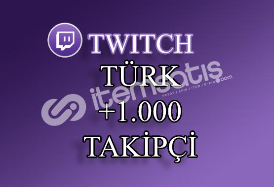 1000 Türk Twitch Takipçi | 30 Gün Garantili