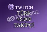 5000 Türk Twitch Takipçi | 30 Gün Garantili
