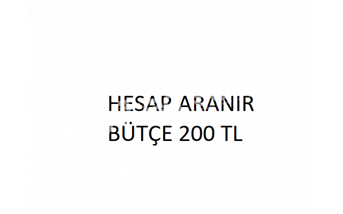 HESAP ARANIR BÜTÇE 200 TL !! HESAP ARANIR BÜTÇE 200 TL !!