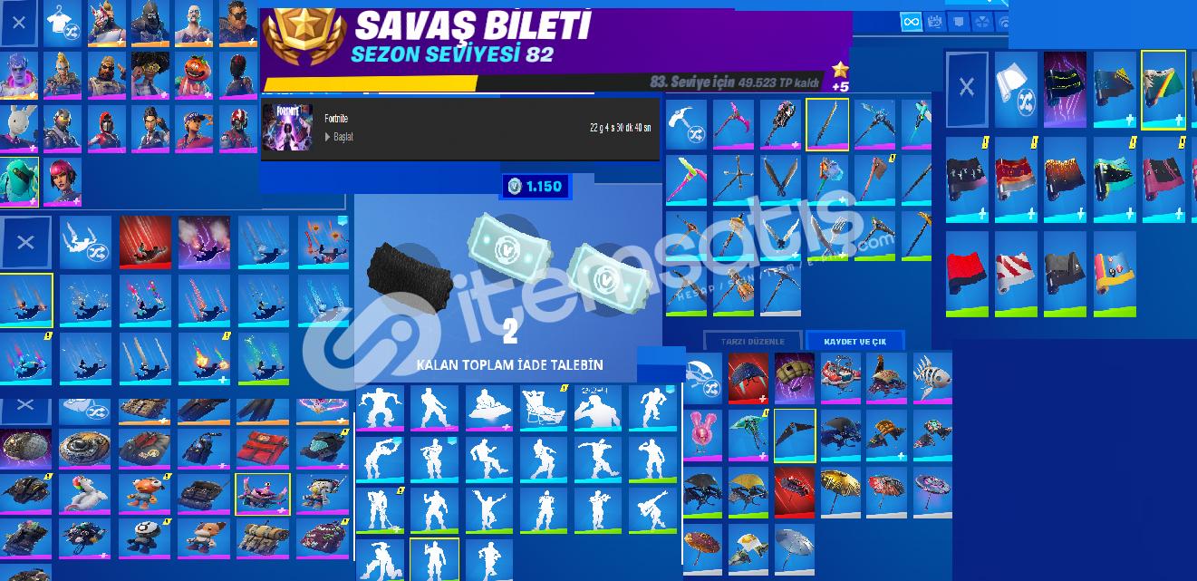 EPİC GAMES FORTNITE YOĞUNLUKLU + GTA V + NBA2K21