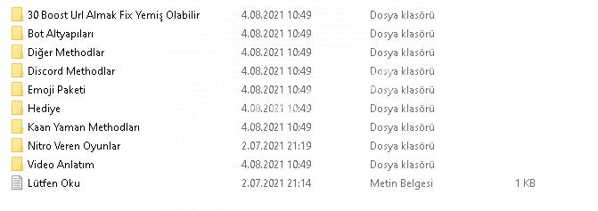 Discord mega method pack (Kaan yaman vb. methodlar)