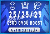 KAÇIRMAA ! 75 ADET ÖVGÜ BOOST HİZMETİ 7/24 HIZLI TESLİM !