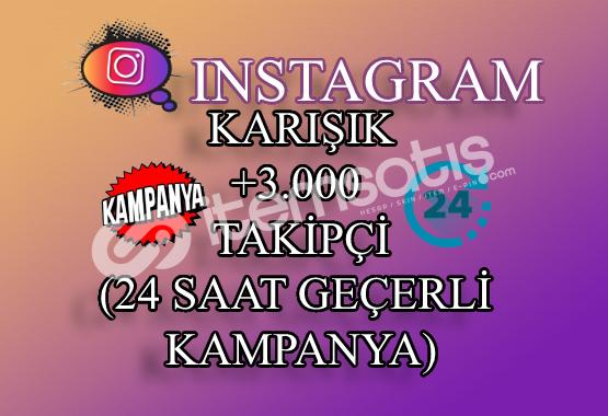 ŞOK İNDİRİM | 3000 Instagram Takipçi Karışık | ANLIK